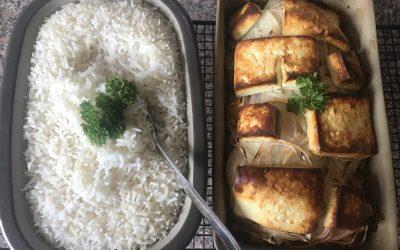 Putenbrust griechische Art mit Reis